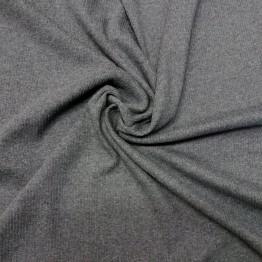 Jersey Fine Ribbed Dark Grey