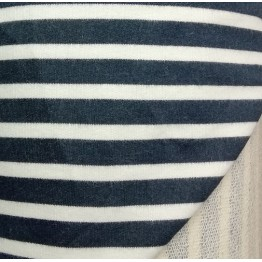 Fleece Limited Edition Loop Back Navy/Ecru Stripe