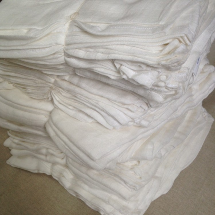Organic Cotton 25 Muslin Gauze Cloths 120x120cm  wholesale