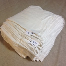 Muslin 100 Cloths 60x60cm - Bamboo and Organic Cotton