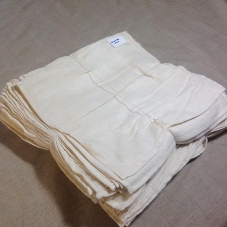 Bamboo and Organic Cotton 100 Muslin Gauze Cloths 30x30cm