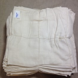 Organic Cotton 100 Muslin Cloths 30x30cm