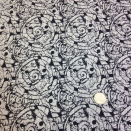 Crossweave Scratch Funky Prints - Grey Marl Spirals