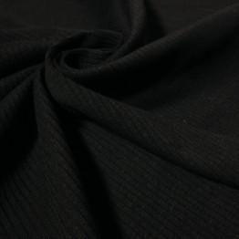 Jersey Fine Ribbed Black