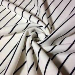 Fleece - White with Black Stripe