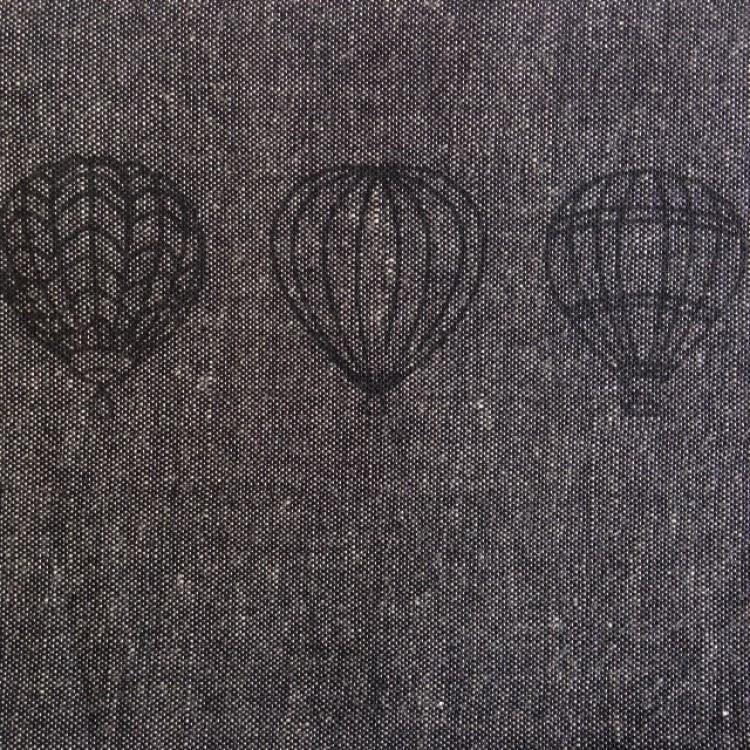 Border Balloons Black on Black