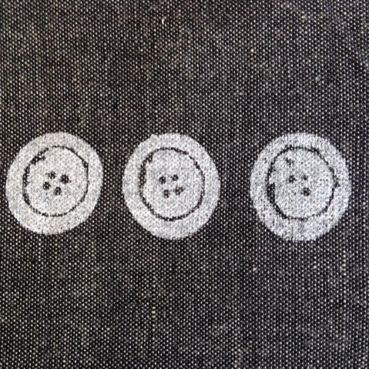 Border White Buttons on Black