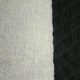 Quilting Grey Marl Crossweave/ Black Sateen