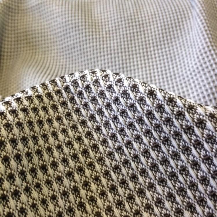 Waffle Basketweave Grey/Green