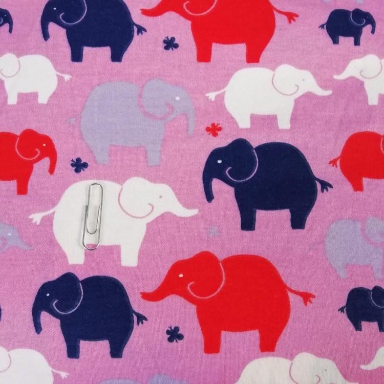 Jersey Interlock Elephants
