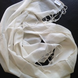 Scarves to Print and Dye - Cotton, Tasseled